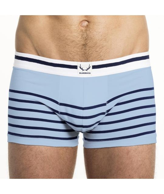 Shorty ice blue rayé marine